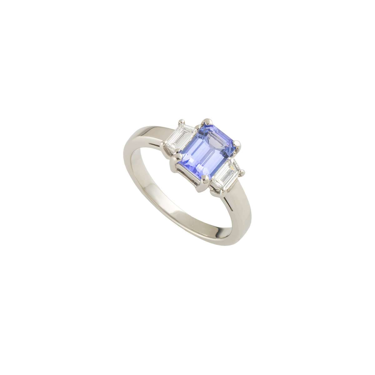 round p ring diamond white engagement rings halo gold and tanzanite